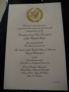 The inaugural invitation