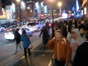 Packed streets