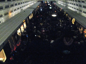 Inside the Federal Center Metro station