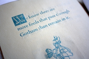 Letterpress III, Chapbook close up